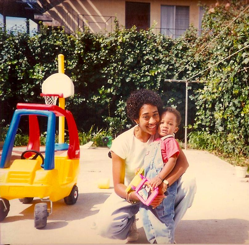 Me Kamau backyard