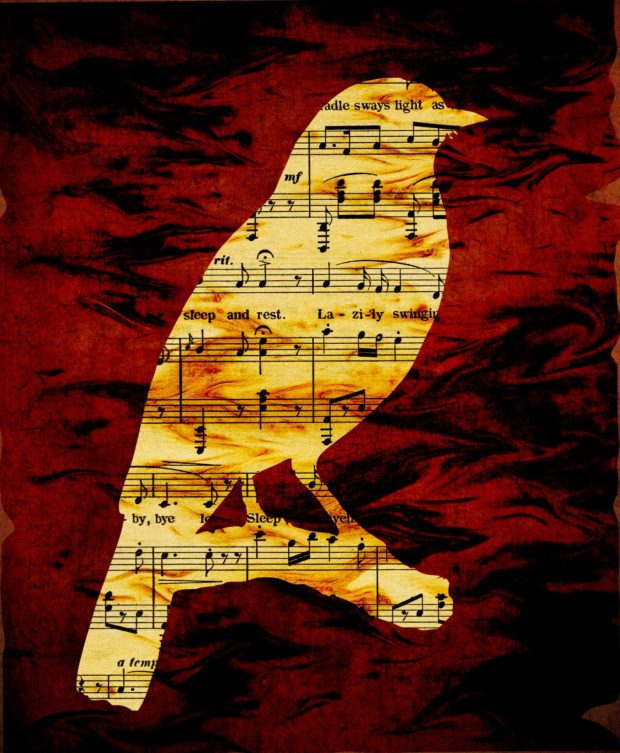 musical-notes-bird-silhouette